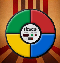 Simon game emulator