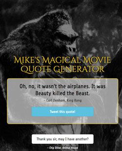 Movie Quote Generator